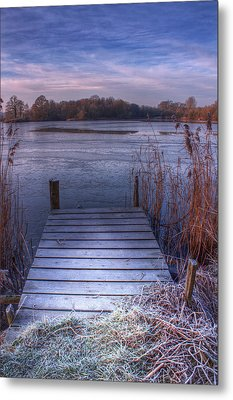 Frosty Jetty Metal Print