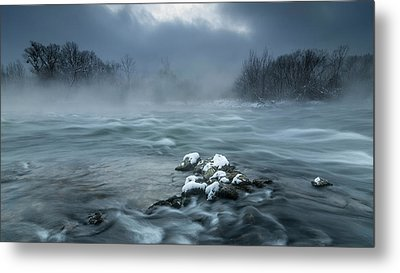 Frosty Morning At The River Metal Print
