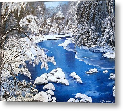 Metal Print featuring the painting Frosty Morning by Sharon Duguay