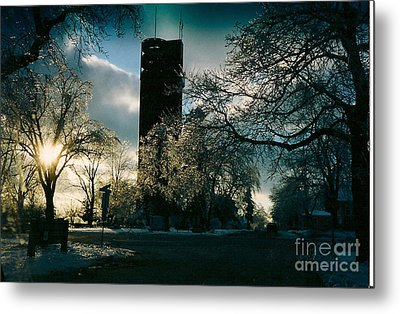 Frosty Sunrise At Tower Park Metal Print