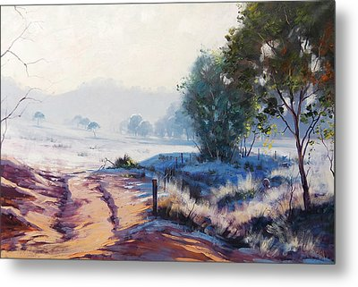 Frosty Winter Light Metal Print by Graham Gercken