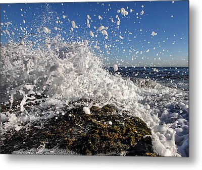 Froth And Bubble Metal Print