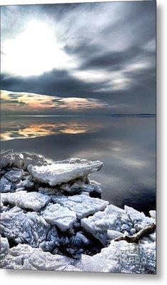 Frozen Chesapeake Metal Print by Olivier Le Queinec