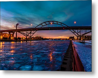 Frozen Hoan Bridge Metal Print