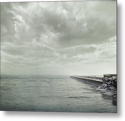 Frozen Jetty Metal Print by Scott Norris