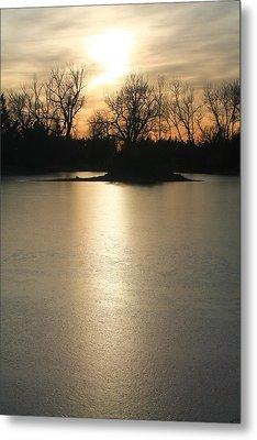 Frozen Lake Metal Print by Alicia Knust