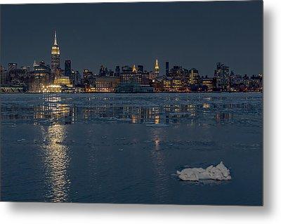 Frozen Midtown Manhattan Nyc Metal Print