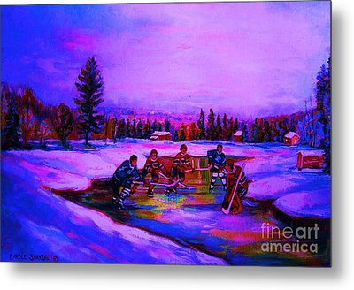 Frozen Pond Metal Print