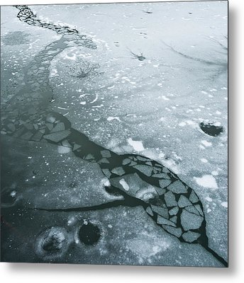 Frozen Pond Metal Print by Gary Eason