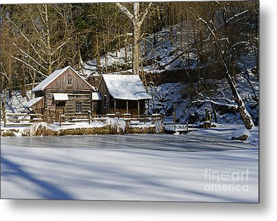 Frozen Pond  Metal Print by Paul Ward