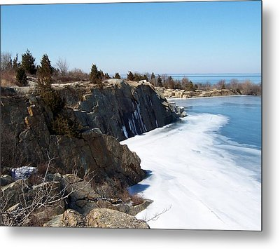 Frozen Quarry Metal Print by Catherine Gagne