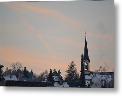 Metal Print featuring the photograph Frozen Sky 2 by Felicia Tica