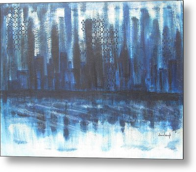 Frozen Skyline Metal Print