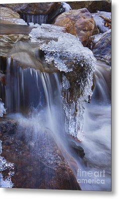 Frozen Stream Metal Print