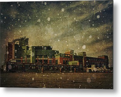 Frozen Tundra Part II - Lambeau Field Metal Print by Joel Witmeyer