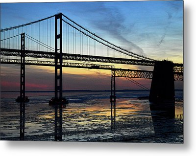 Metal Print featuring the photograph Frozen Waters Under The Bay Bridge by Bill Swartwout