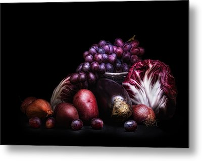 Fruit And Vegetables Still Life Metal Print by Tom Mc Nemar