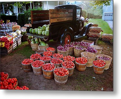 Metal Print featuring the photograph Fruit And Vegitable Stand Truck by Tom Brickhouse