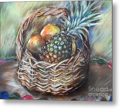 Fruit Basket Metal Print by Melanie Alcantara Correia