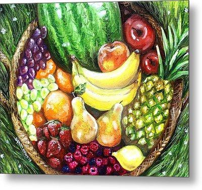 Fruit Basket Metal Print by Shana Rowe Jackson