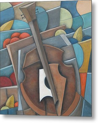 Fruit Cello Metal Print by Trish Toro