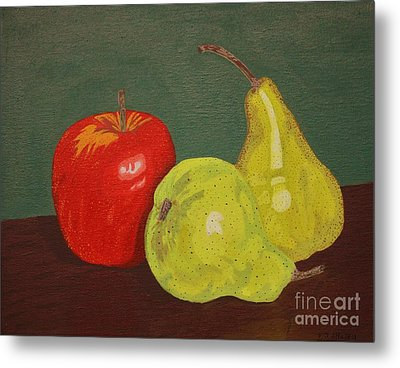 Fruit For Teacher Metal Print by Vicki Maheu