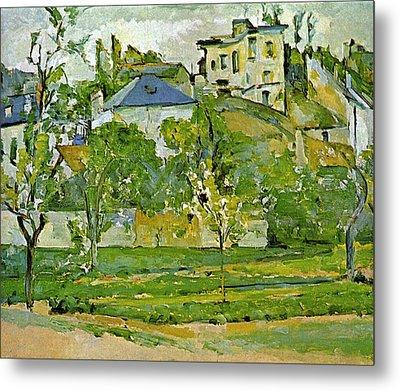Fruit Garden In Pontoise By Cezanne Metal Print by John Peter