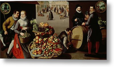 Fruit Market Metal Print by Lucas van Valckenborch