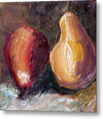 Metal Print featuring the painting Fruit Of The Same Tree by Michael Helfen