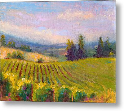 Fruit Of The Vine - Sokol Blosser Winery Metal Print by Talya Johnson