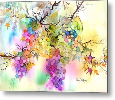Fruit On The Vine Metal Print by Neela Pushparaj