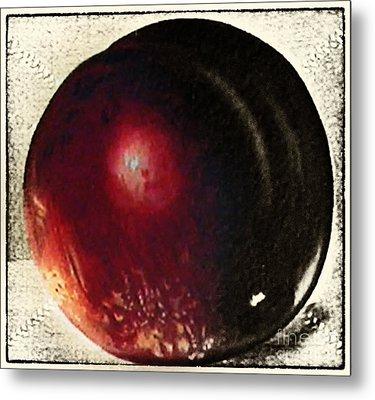 Fruit Painting Vintage Metal Print