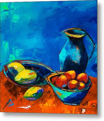 Metal Print featuring the painting Fruit Palette by Elise Palmigiani