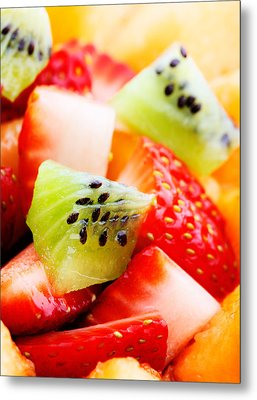 Fruit Salad Macro Metal Print by Johan Swanepoel
