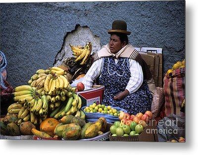 Fruit Seller Metal Print by James Brunker