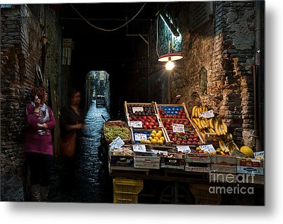 Fruit Stall Metal Print by Marion Galt