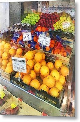 Fruit Stand Hoboken Nj Metal Print by Susan Savad