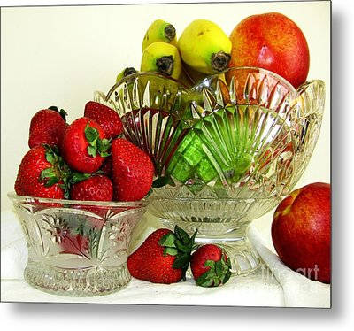 Fruit Still Life 1 Metal Print by Margaret Newcomb