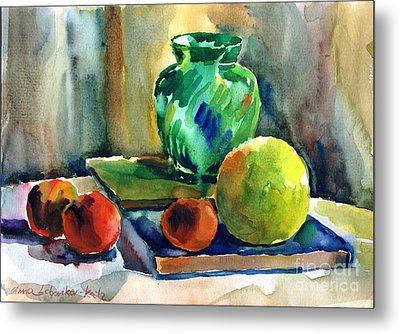Fruits And Artbooks Metal Print by Anna Lobovikov-Katz