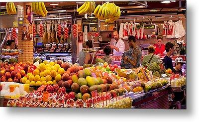 Fruits At Market Stalls, La Boqueria Metal Print