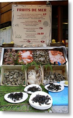 Metal Print featuring the photograph Fruits De Mer by Cleaster Cotton