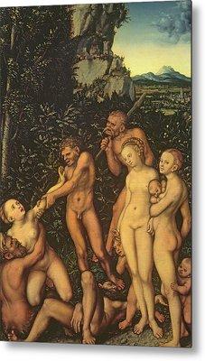 Fruits Of Jealousy Metal Print by Lucas the elder Cranach