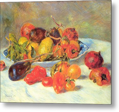 Metal Print featuring the painting Fruits Of The Midi  by Renoir