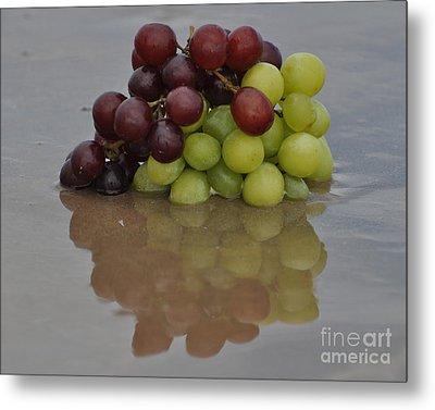 Fruitscapes Grapes Metal Print
