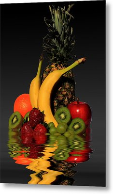 Fruity Reflections - Dark Metal Print by Shane Bechler