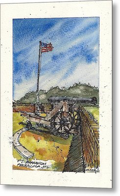Metal Print featuring the mixed media Ft. Barrancas Cannon by Tim Oliver