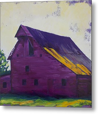 Fuchsia Barn Metal Print by Kristin Whitney