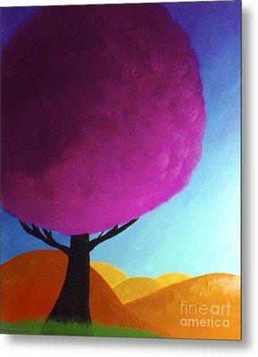 Fuchsia Tree Metal Print by Anita Lewis