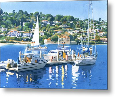 Fuel Dock Shelter Island San Diego Metal Print by Mary Helmreich