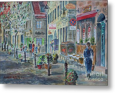 Metal Print featuring the painting Fuerth Gustavstrasse by Alfred Motzer